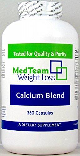 (MedTeam Calcium Blend (360 Capsules) - Calcium Blend Dietary Supplement)