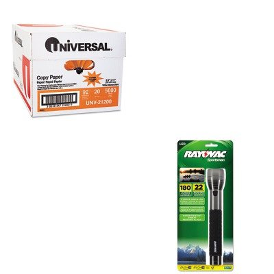 KITRAYSE4W3CAUNV21200 - Value Kit - Ray-o-vac Sportsman Xtreme LED (RAYSE4W3CA) and Universal Copy Paper (UNV21200)