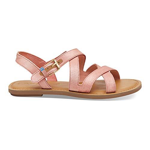 TOMS Women's Sicily Sandals, Size: 9.5 B(M) US, Color: Crl Pnk Shimmer -