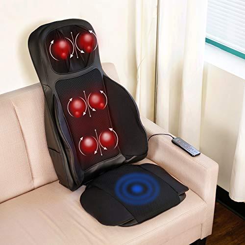 Aurora Health & Beauty Shiatsu Massage Seat Cushion with Air Compression Technology Multi-Point Nodes and Heat from Aurora Health & Beauty