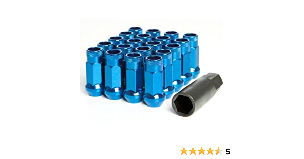 # OPEN END//12X1.5//BURNED BLUE MUTEKI SR48 20PCS EXTENDED WHEELS TUNER LUG NUTS
