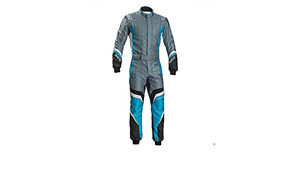 Sparco Groove KS-3 Kart Racing Suit 002334 Size: Small, Black//Celeste