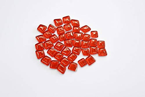 Glass Mosaic Pebbles - NUORUI 120 Pieces Irregular Shape Crystal Mosaic Tiles Red Glass Tiles for DIY Crafts and Home Decoration (Bright Red)