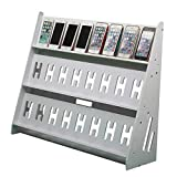 Ozzptuu Multifunctional Three Layer Mobile Phone Stand Holder Display Shelf Studio Game Rack Charging Station Organizer for Multiple Phones (24 Mobile Phones)