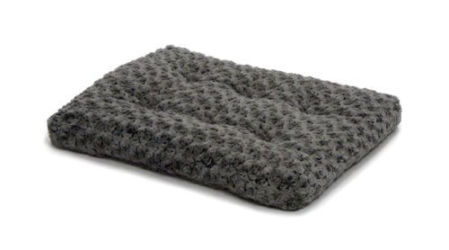 Midwest Quiet Time Pet Bed Deluxe Gray Ombre Swirl 35