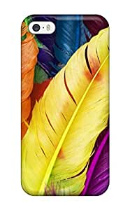 Top Quality Case Cover For Iphone 5/5s Case With Nice Feathers In Colors Appearance