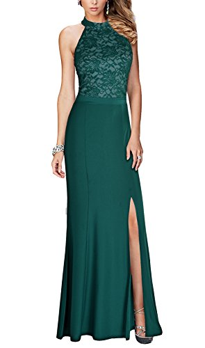 REPHYLLIS Women's Halter Floral Lace Vintage Wedding Maxi Long Dress XL Green