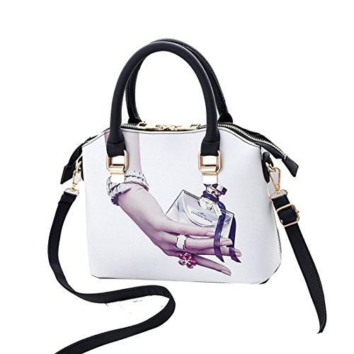 Grand Multicolore4 Femme sac bandoulière Peinture main à de pour mode Dunland à Classique sac mode dames UAW6g