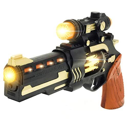 Steampunk Cool Kids Toys Guns for Boys,Girls Revolver Pistol with Lights Sounds -