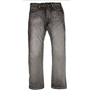 Axel Black Rock Relaxed Straight Denim Jeans