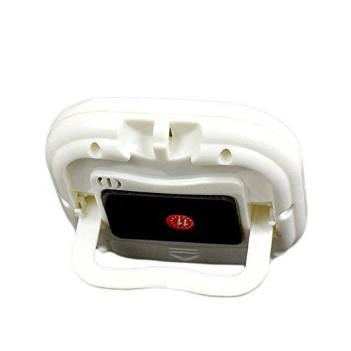 Temporizador digital de cocina Big d/ígitos alarma Base magn/ética soporte blanco minuto segundo Conde de cuenta atr/ás retr/áctil soporte Gran Pantalla LCD