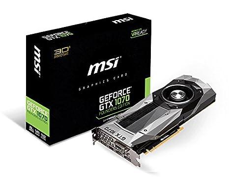 MSI GTX 1070 Founders Edition - Tarjeta gráfica de 8 GB (GDDR5 ...