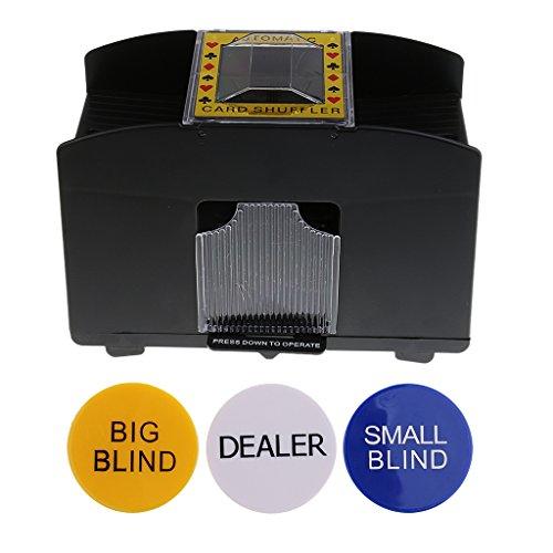 Baosity 自動カードシャッフラー 1-4デッキ ポーカーカード シャッフルマシン ゲーム ブラインド パーティー