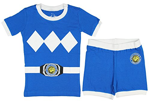 Power Rangers Toddler Character Cotton Pajamas (Blue, 3T) ()