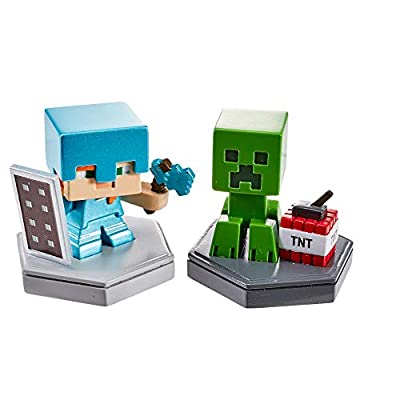 Minecraft Boost Mini Figure 2-Pack Assortment: Toys & Games