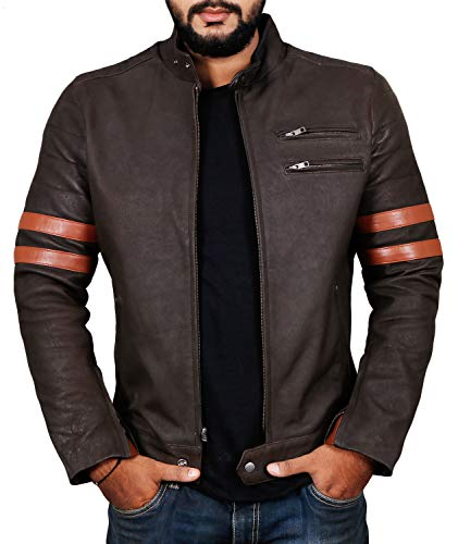 Laverapelle Men's Genuine Lambskin Leather Jacket (Choco-Snaff, Medium, Polyester Lining) - 1501535 ()