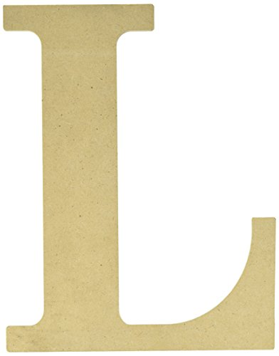 MPI MDF Classic Font Wood Letters and Numbers, 9.5-Inch, Letter-L