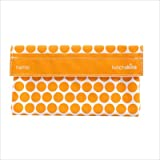 Snack Size Bag, Lunchskins, Mango Polka Dot, 4 x 6.5.