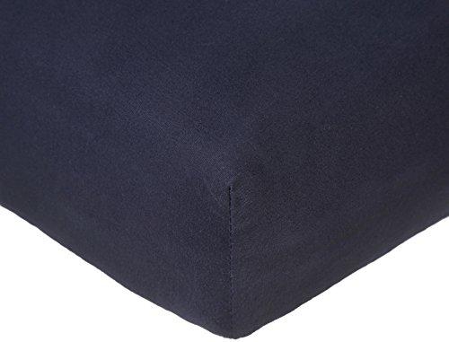 Pinzon 300 Thread Count Organic Cotton Crib Sheet Baby Bedding, Navy Blue
