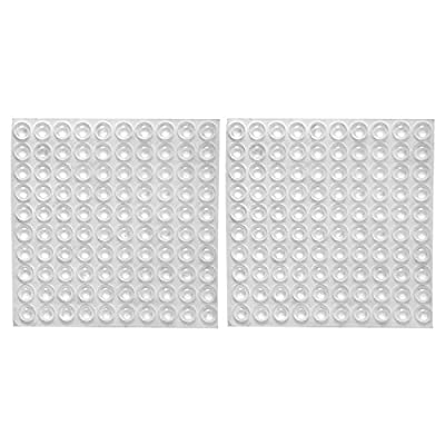 eBoot Clear Rubber Feet Adhesive Bumper Pads Self Stick Bumpers Sound Dampening Door Bumpers Cabinet Buffer Pads, 8.5 by 2.5 mm, 200 Pieces