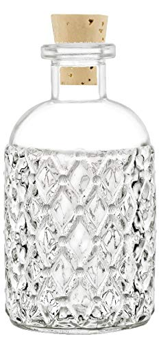 Nakpunar 48 pcs 8 oz Corked Boston Round Bottles with cork - Clear Quilted Style (48, 8 oz Quilted Boston) by Nakpunar (Image #1)