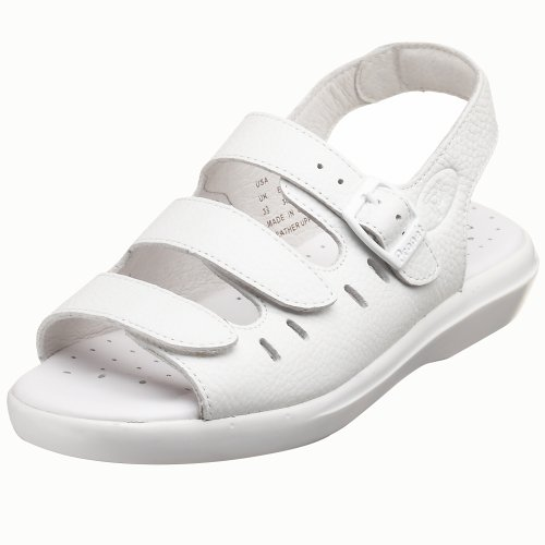 Half Sole Sandal - Propet Women's Breeze Walker Sandal,White Grain,8 Wide