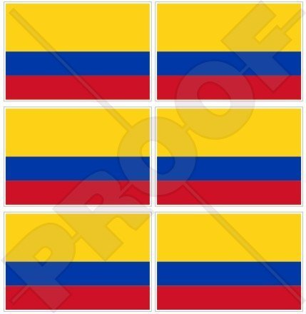 COLOMBIA-Colombian-Flag-South-America-40mm-16-Mobile-Cell-Phone-Vinyl-Mini-Stickers-Decals-x6