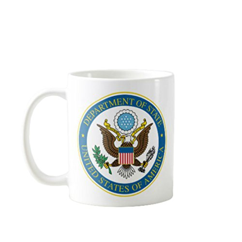 - 11OZ PREMIUM PORTABLE COFFEE MUGS FUNNY -DEPARTMENT OF STATE UNITED STATE OF AMERICA - GIFT IDEAL FOR MEN, WOMEN, MOM, DAD, TEACHER, BROTHER OR SISTER #615