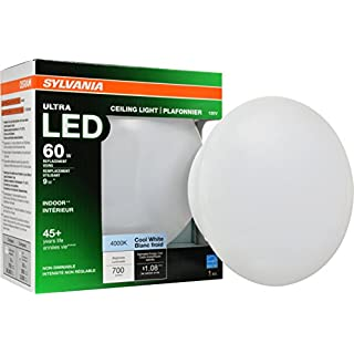 SYLVANIA General Lighting 75081 60W Equivalent Ultra LED Medium Base Retrofit for Ceiling Light Fixtures - 4000K (Bright White)