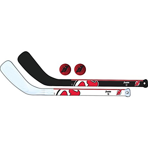 - Franklin Sports NHL New Jersey Devils Mini Hockey 2 Piece Player Stick Set