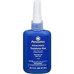 Permatex 24283 Medium Strength Threadlocker Blue, 90 ml