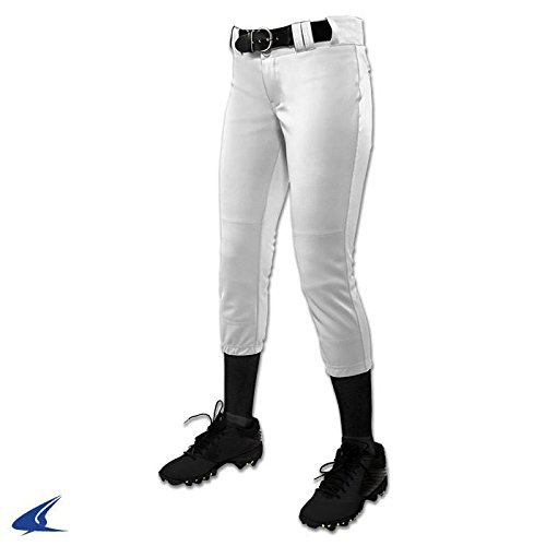 CHAMPRO Youth Tournament Traditional Low-Rise Polyester Softball Pant, Small, ()