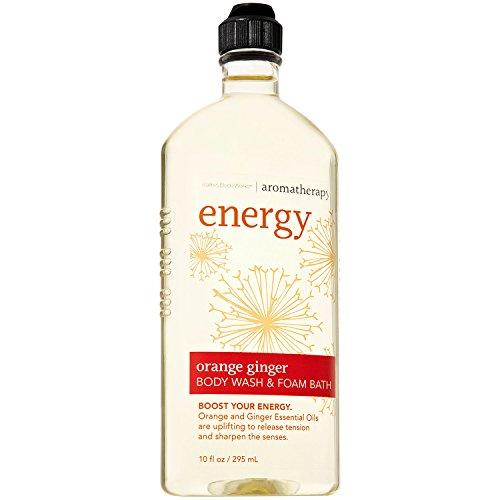 Bath and Body Works Aromatherapy ENERGY Orange Ginger Body Wash & Foam Bath (Retired Fragrance) 10 Fl ()
