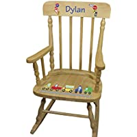 Personalized Wooden Cars and Trucks Rocking Chair