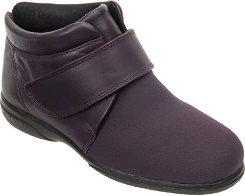 Roomy Loganberry Width With Fitting Julia Leather Cosyfeet Boots Extra 6E Elastane wxtUBxFR0q