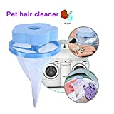 GDDD Pet Fur Catcher, Floating Pet Fur Catcher Reusable Hair Remover Tool for Washing Machine,Washing Bags Hair Ball Filter (Blue) (Pink)