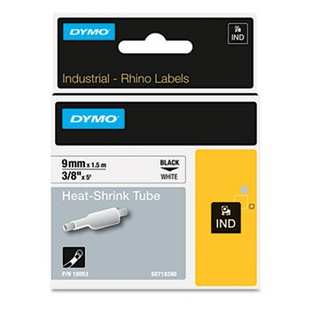 DYMO 18053 - Rhino Permanent Poly Industrial Label Tape Cassette, 3/8 x 5 ft, White-DYM18053