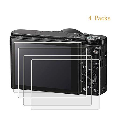 PCTC Glass Screen Protector for Sony RX100VI RX100III RX100II RX100 IV V RX100VI(2018RX 1R Camera Tempered Glass Anti-Bubble Anti-Scratch Anti-Fingerprint(4 Packs)
