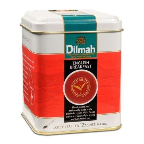 Dilmah, Gourmet, 100% Pure Ceylon Single Origin, English Breakfast, Loose Leaf, 4.4 oz Tins, (Pack of 2)