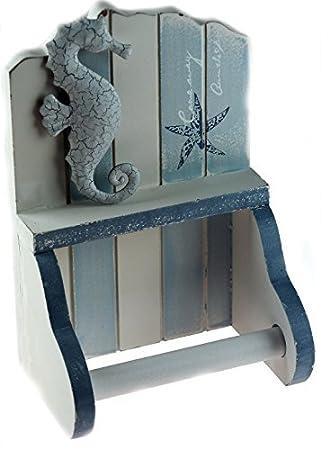 Toilettenpapierhalter fürs Badezimmer, aus Holz, maritimes ...