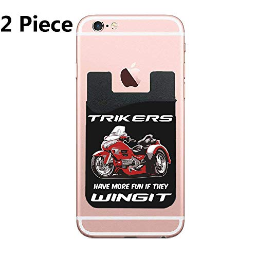 Trikes Wingit Goldwing Premium PU Phone Card Holder Stick On Wallet for iPhone and Android Smartphones Kangaroo