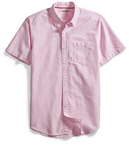 goodthreads-mens-short-sleeve-solid-oxford-shirt-pink-medium