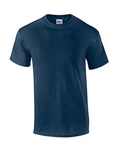 Gildan Mens Ultra Cotton 100% Cotton T-Shirt, 3XL, Heathered Navy