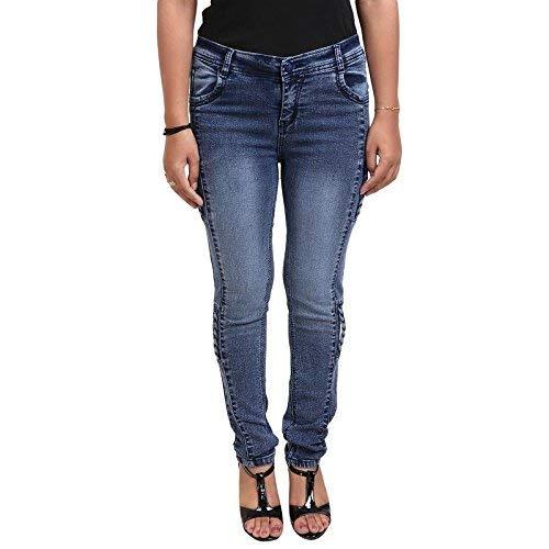 a0d5037cd7 ESSENCE Women's/Ladies/Girls Slim Fit Trendy Blue Stretchable Ankle Length  Casual Denim Jeans