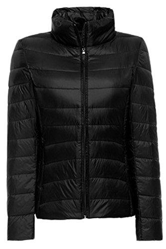 Mujer negro Blanco La Ultralight Outcoat Abajo Casual Invierno Pato Acolchadas Parkas Plussize Fq7f7xUTw