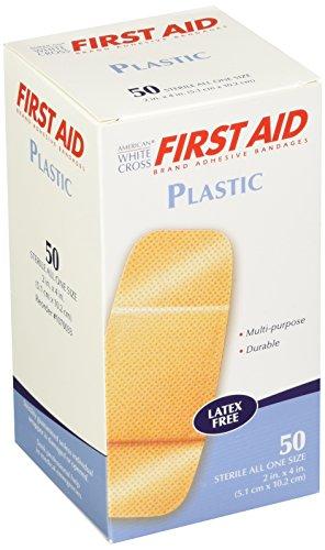 American White Cross 1070033 Plastic Adhesive Strips, Sterile, 2