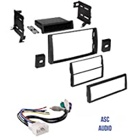 ASC Audio Car Stereo Dash Kit and Wire Harness for Installing an Aftermarket Radio for some 2002 2003 2004 2005 2006 Toyota Camry with JBL Amp