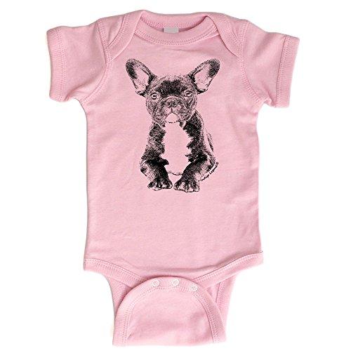 Artist Baby Onesie - Indigo Legend French Bulldog Onesie for Baby Boys and Girls Baby Shower Gift (Pink, 6-12 Months)