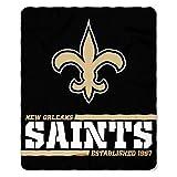 Northwest NFL New Orleans Saints 50×60 Fleece Split Wide DesignBlanket, Team Colors, One Size