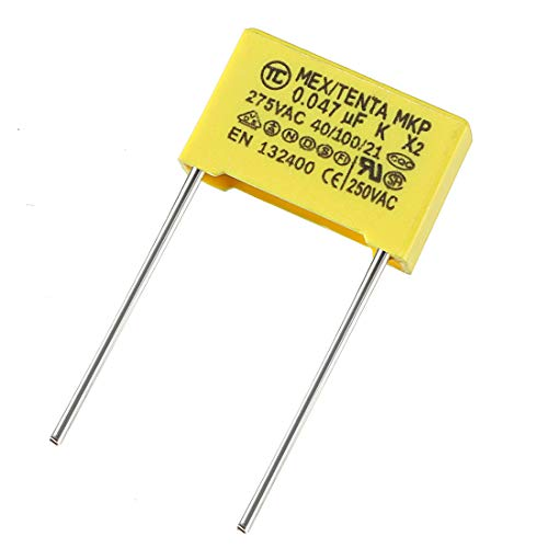 uxcell Safety Capacitors Polypropylene Film 0.047uF 275VAC X2 MKP 13.5mm Pin Pitch 20 Pcs (Metal Polypropylene Capacitors)